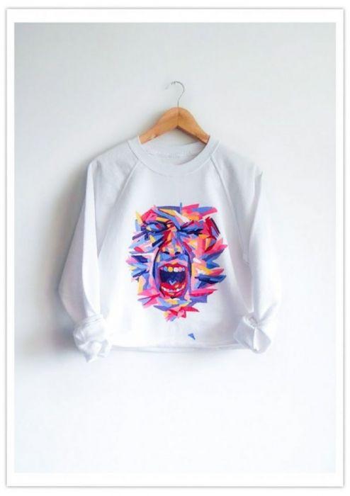 Ręcznie malowana bluza - personalizowana - null