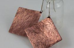 Kwadraty - miedziane kolczyki 191117-01