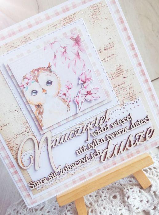 Kartka w kopercie dla nauczyciela 3 GOTOWA