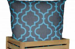 Ozdobna bawełniana poduszka ~ Maroko&turq&gr