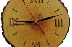 Zegar drewniany plaster drewna