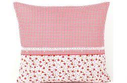 Poszewka na poduszkę kratka z truskawkami