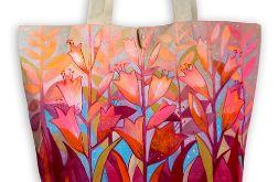 Ekologiczna ręcznie malowana torba miejska na zakupy