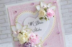 Kartka ślubna w pastelach