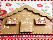 Karteczka Świąteczna z chatką z piernika