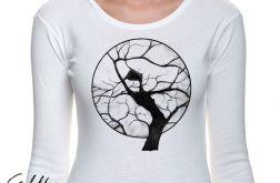 Drzewo - długi rękaw - biała