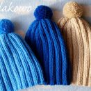 Zimowa czapka z pomponem niebieska