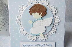 Zaproszenie na Chrzest z aniołkiem 2