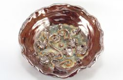 Miska ceramiczna lustrowa