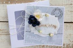 Kartka ślubna z personalizacją + pudełko b8
