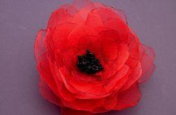 Broszka kwiat - czerwień 10 cm