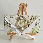 Kartka ślubna kopertówka floral V - całość