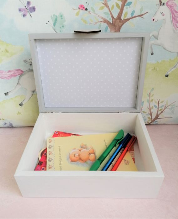 Pudełko bez przegródek z imieniem - MmC14 - drewniana szkatułka dla dziewczynki