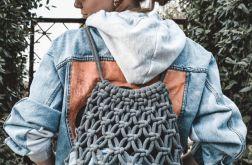 Makramowy plecak handmade