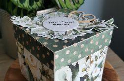 Pudełeczko ślubne exploding box kartka ślubna personalizowana WZÓR