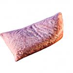Pufa z futra różowa - różowa pufa futrzak