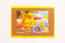 Kartka wielkanocna z kurczaczkiem nr 22