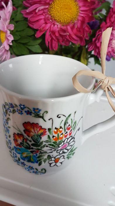 Kubek polskie kwiaty- możliwość dedykacji - kubek od góry
