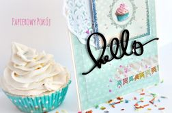 Hello cupcake / Muffinka kartka
