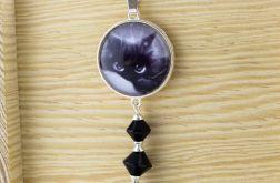 Wisiorek Black Kitty