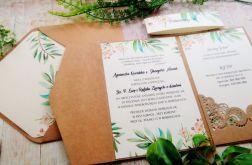 Rustykalne zaproszenia na ślub w folderze 02