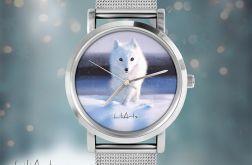 Zegarek, bransoletka - Biały lis