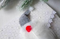 Kartka Mikołaj 3D, bożonarodzeniowa