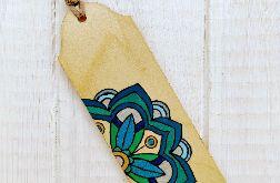 Drewniana zakładka z mandalą seria color v3