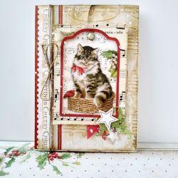 Kartka świąteczna z kotem