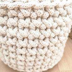 Koszyk 17x14cm,sznurek bawełny, 5 kolorów.
