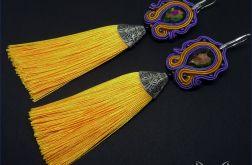 La Reina – żółte kolczyki sutasz chwost