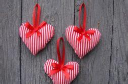 Ozdoby na choinkę serce zawieszka