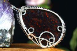 Srebrny wisior z jaspisem brekcjowym handmade