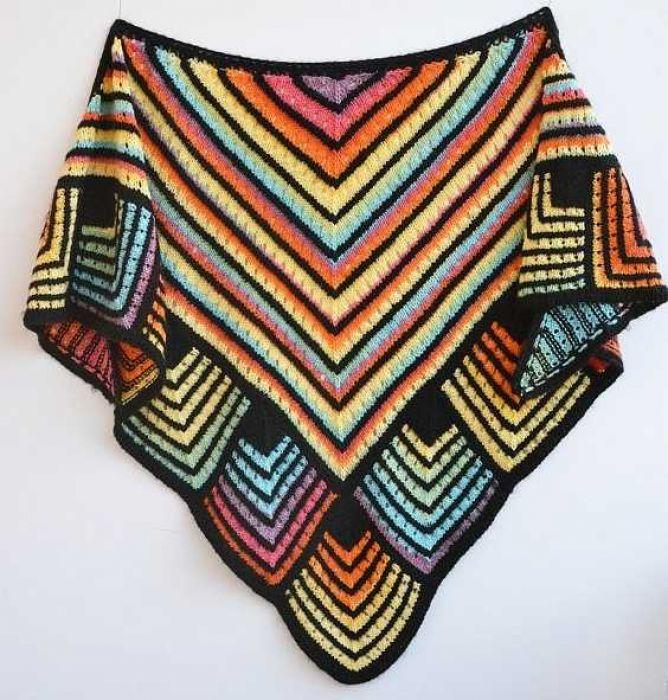 Kolorowa ciepła chusta