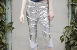 Srebne leginsy cekinowe / SILVER sequined leggings