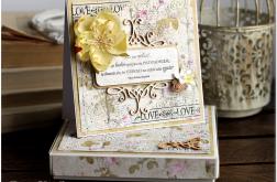 Kartka z kwiatami #35 Ślubna z cytatem