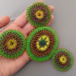 ETNO Mexico naszyjnik boho bohemian folk 003 - etniczny zielony naszyjnik