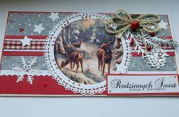 Kartka Boże Narodzenie, sarenki