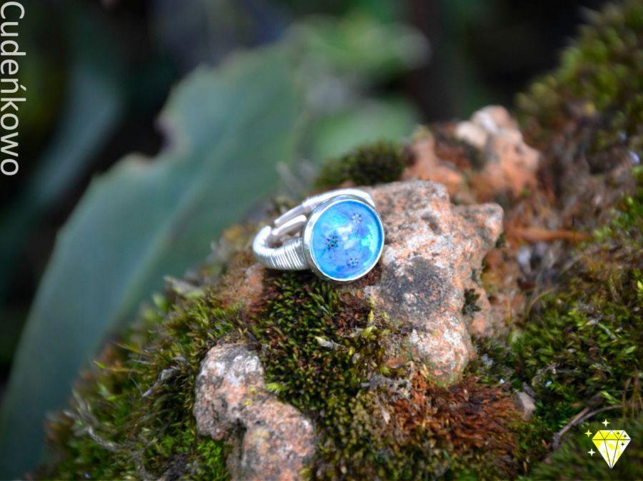 Zatopek pierścionek błękitne niezapominajki - 4