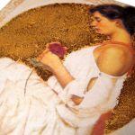 KOBIETA Z RÓŻĄ - herbaciarka, pudełko - KOBIETA Z RÓŻĄ - herbaciarka, pudełko