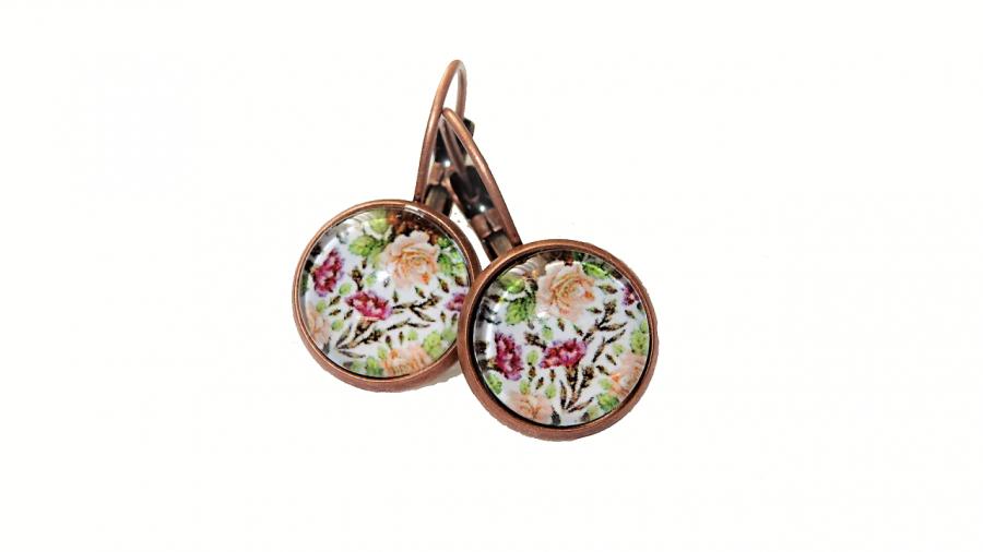 Kolczyki w kolorze miedzi – Wiosenne Kwiaty