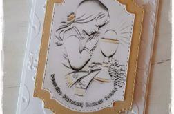 Kartka Komunijna dla dziewczynki.