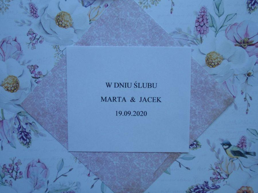 Ślubne serce - kartka na ślub -