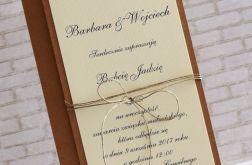 Zaproszenie na ślub eco rustykalne
