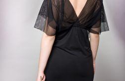Długa sukienka z tiulową górą