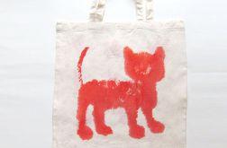 torba bawełniana z kotem nr 5- eko torba