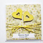 Kartka ŚLUBNA z dwoma sercami - Karta Ślubna z dwoma sercami