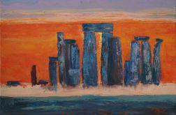 Stonehenge - olej na płótnie