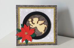 Kartka Boże Narodzenie handmade z aniołkiem
