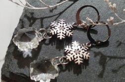 Śnieżynki z kryształami.